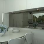 Spejl TV integreret i køkken